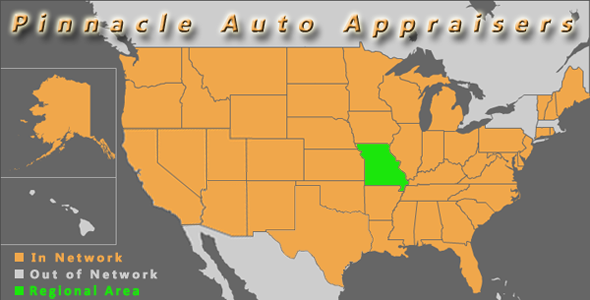 map kansas city missouri pinnacle auto appraisal appraiser diminished value inspection